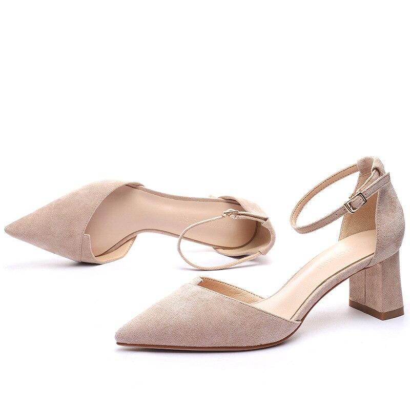 SunNY Everest New Block Heel Phrase Buckle Sandals Hole Footwear Feminine 2019 Spring New Type Leisure Excessive Heels Footwear Pumps 40 Ladies's Vulcanize Footwear, Low cost Ladies's Vulcanize Footwear,...