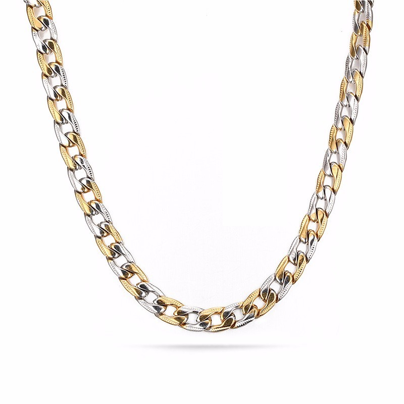 Hip Hop Style Men's Gold and Silver Chain