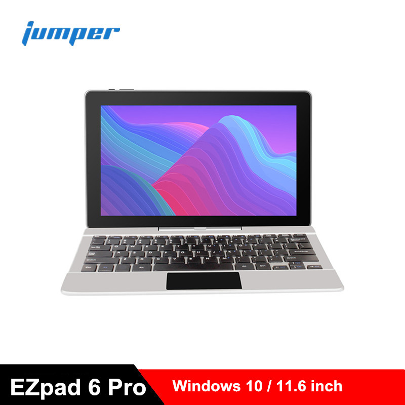 Jumper EZpad 6 Pro Tablets 2 In 1 Tablet PC 11.6'' Windows 10 Apllo Lake N3450 Quad Core 6GB 64GB EMMC HDMI Laptop With Keyboard