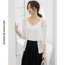 2019 spring and summer ice silk thin short sunscreen sweater womens cardigan outside tippet M1905