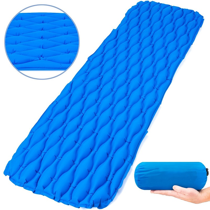 Outdoor Camping Ultralight Sleeping Mat Inflatable Sleeping Pad Bags Mattress Hiking Backpacking Self-driving Travel Camping Mat For Sale