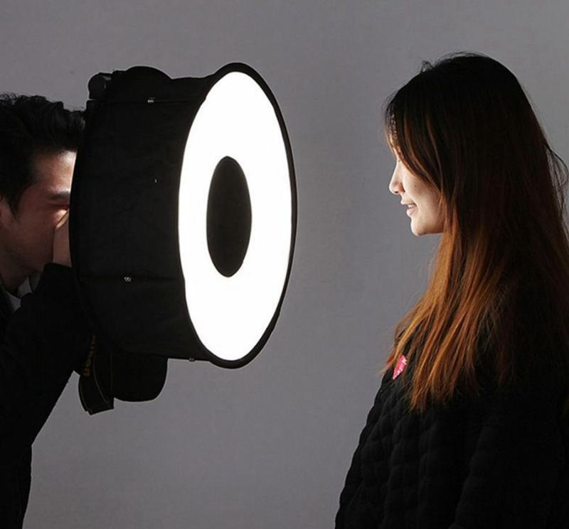 Flash Diffuser Foldable Speedlight Annular Photography Accessories Universal Professional Softbox 45CM|Softbox|Consumer Electronics - title=