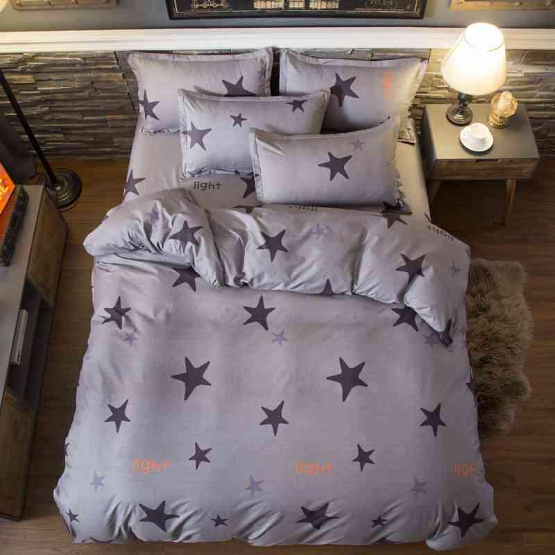 Little Footprints Duvet Cover flat bed Sheets +Pillowcase Super King Queen full Twin kids Size cotton Bedding Set 29