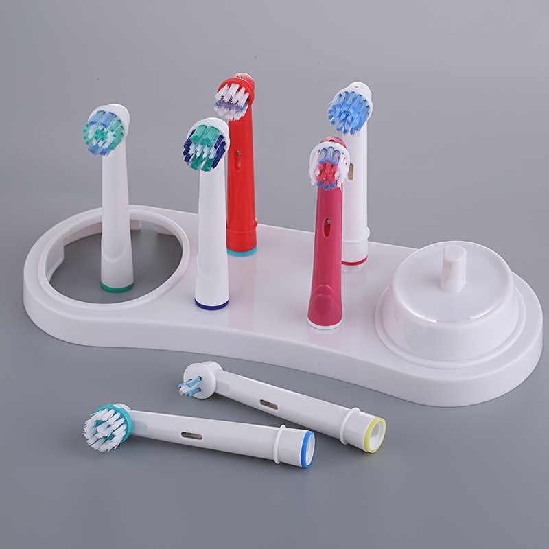 Elektryczne szczoteczki do zębów uchwyt stojak wsparcie białe końcówki do szczoteczki podstawa z ładowarką otwór dla Oral B 3709 3728 D18