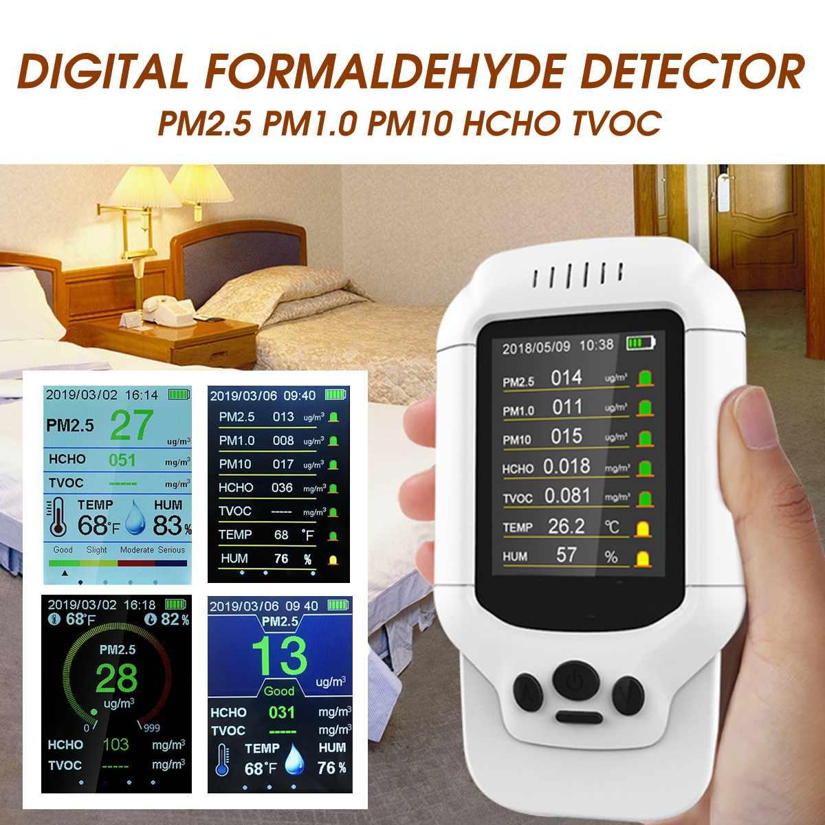 Messung Und Analyse Instrumente Neue Digital Air Qualität Monitor Formaldehyd Detektor Multifunktionale Gas Analyzer Hcho Tvoc Pm2.5 Diagnose Werkzeug Für Haus Auto