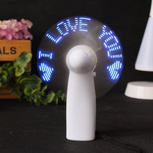 Mini Air Cool Fan Luminous LED Night Light Lovers Gift I LOVE YOU Hand Held Photo Props Pocket Camping Travel Emergency