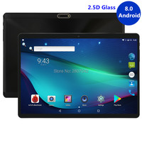 Super Tempered 2.5D Glass 10 inch tablet Android 8.0 Octa Core 4GB RAM 64GB ROM 8 Cores 1280X800 IPS Screen Tablets 10 10.1 Pad