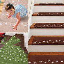 Luminous Safety Visual Stairway Footprint Bear Claw Pattern Non-slip Trap Mat self-adhesive Floor Staircase Carpet Protector Mat(China)