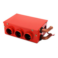 12V 24W Universal Portable Car Heater Auto Van Heating Air Heater Compact Defroster Demister Car Electrical Appliances Red
