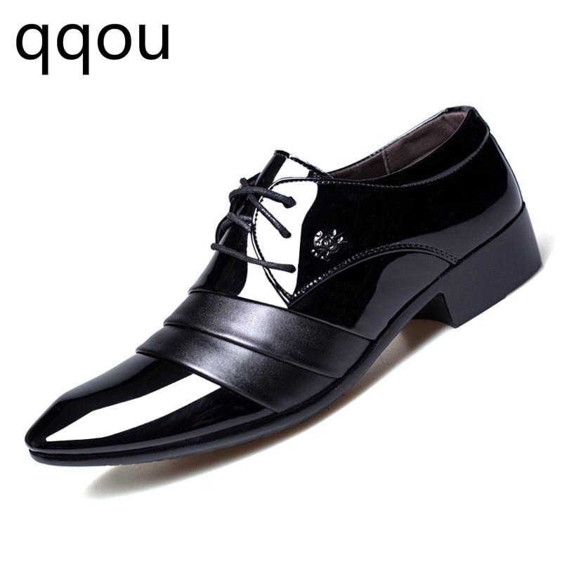 Moda Selvagem Couro Apontou Dos Primavera Sapatos E 2019 Sapatas Tendência Outono Negócios Homens Preto Vestido Casuais De Coreano Bc6ZqW