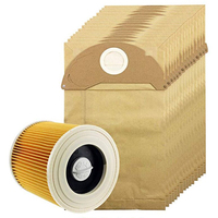 15 X Wet & Dry A2004 A2014 Bags & Filter For Karcher Car Vacuum Cleaner Hoover