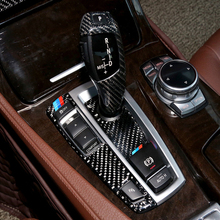 Dla BMW serii 5 GT F07 F10 X3 X4 F25 F26 samochodu z włókna węglowego Panel zmiany biegów główka drążka zmiany biegów pokrywa