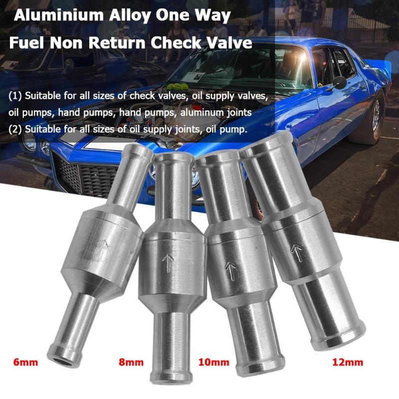 6AN AN6 AN-6 Fuel Non Return One Way Check Valve Petrol Diesel Aluminium B 2PC