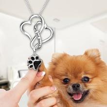 Strollgirl 925 Sterling Silver My Best Friend Dog Footprint Necklaces & Pendants with Black Enamel Women Silver Jewelry Gift