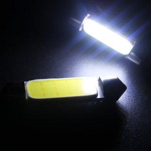 10 шт. белый початок C5W автомобиля Автомобильный фестонный купол Внутренние светодиодные лампы карта крыши настольная лампа DC12V 31/36/39/42 мм