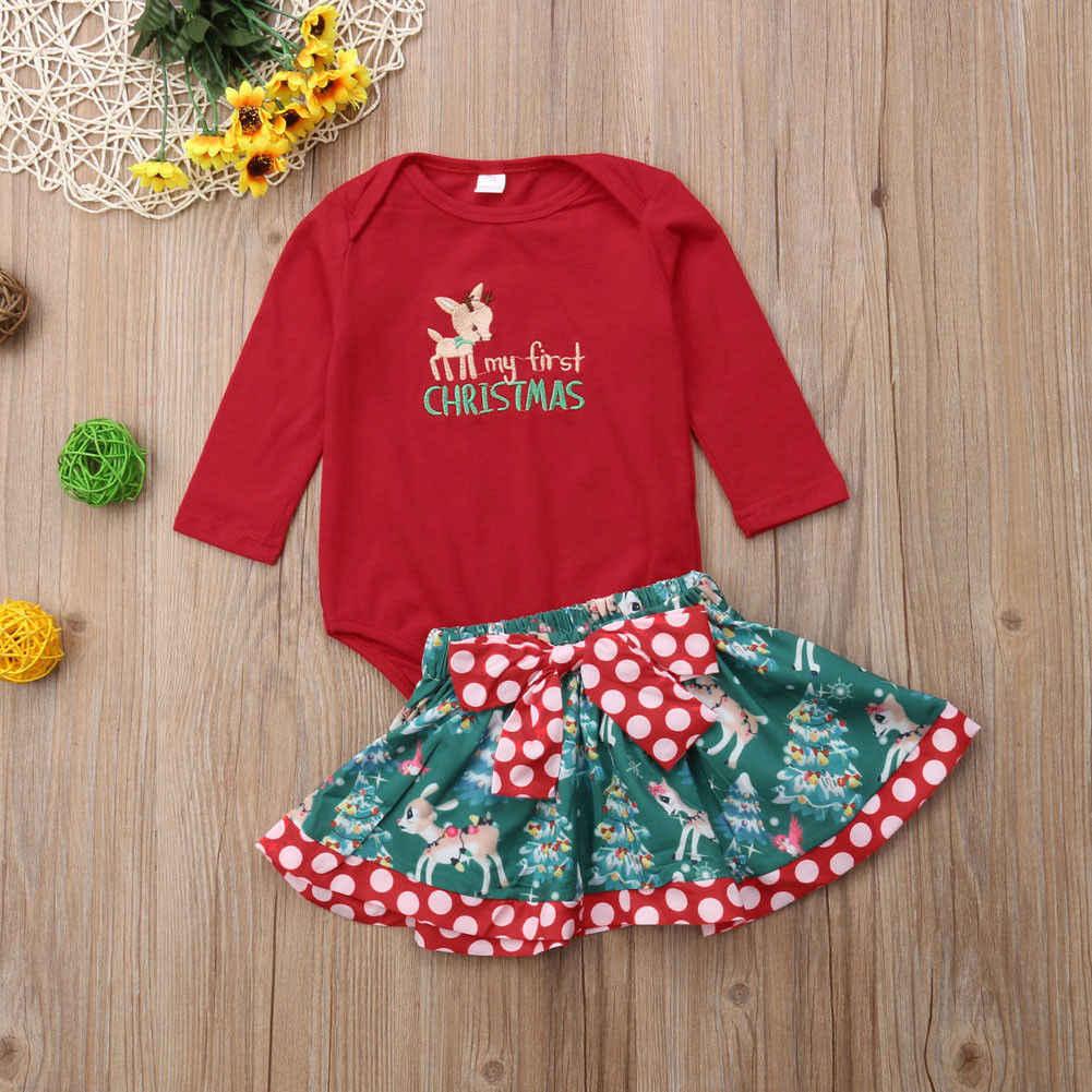 Рождественская Одежда для маленьких девочек; костюм; Одежда для новорожденных; комбинезон; комплект одежды