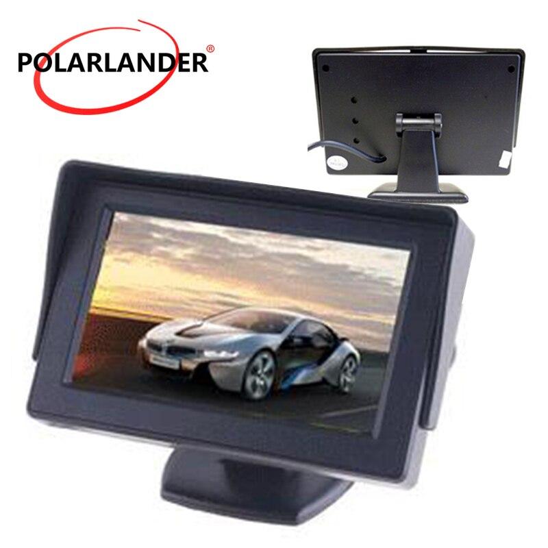 4,3 Zoll farbe TFT LCD Bildschirm 2-Kanal Video Eingang Auto Monitor Unterstützung hinten kamera reverse priorität auto monitor display