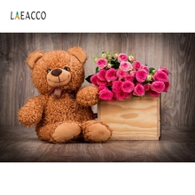 Laeacco Wooden Flore Baby Beer Toys Backdrop Photography Backgrounds Customized Photographic Backdrops For Photo Studio