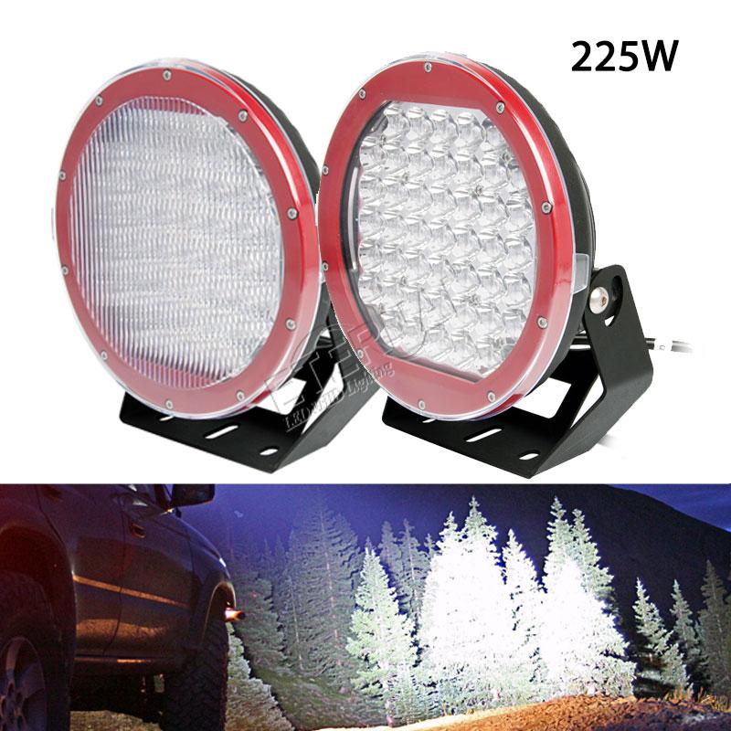 2 pièces 225 W led conduite lumière spot faisceau d'inondation ARB projecteur phare travail pour 4WD hors route 4x4 ATV UTV RV camion remorque Niva