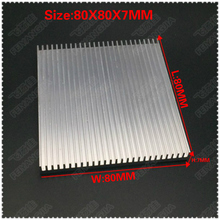 Free shipping 5pcs 80x80x7mm Aluminum Radiator Heat Sink Heatsink LED Amplifier IC Transistor Computer Memory
