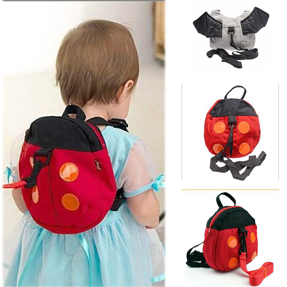 Baby Kid Keeper Toddler Walking Safety Harness Backpack Bag Strap Rein Bat Ladybug