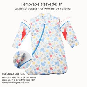 Image 4 - Childrens Fall And Winter Thickened Cotton Flannel Sleeping Bag Infant Long Sleeves Stroller Warm Cartoon Sleeping Bag