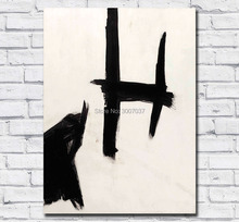 Handmade Oil Painting Abstract Franz kline curvinal Wall Art Picture Home Decor Living Room Modern Canvas Paintings
