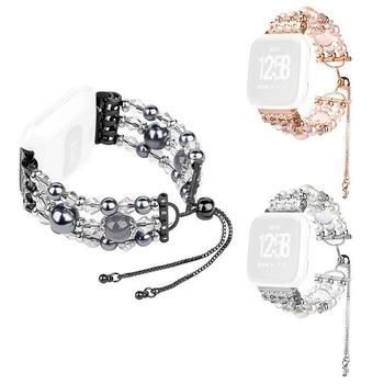 9cb3bbabcf Nueva moda de pulsera-Fitbit viceversa correa de reloj de las mujeres de  joyas de lujo de correa de reloj de correa ajustable banda