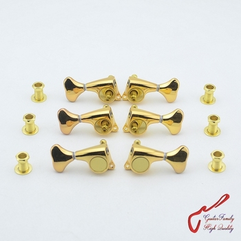 1 Set Super Quality Gear Ratio  1:21  Guitar Machine Heads Tuners  Gold  ( #0726 ) MADE IN KOREA crucifixo pingente de ouro masculino
