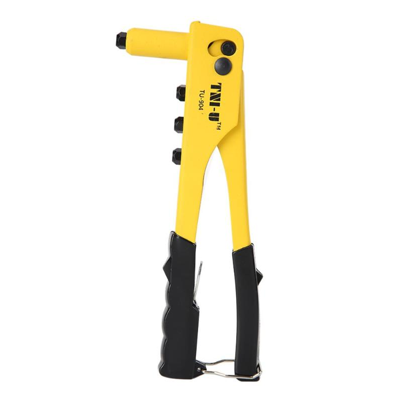 9.5in/10in Rivet Gun Hand Riveter Nut Rivet Gun Kit Manual Threaded Nut Gutter Repair Tools