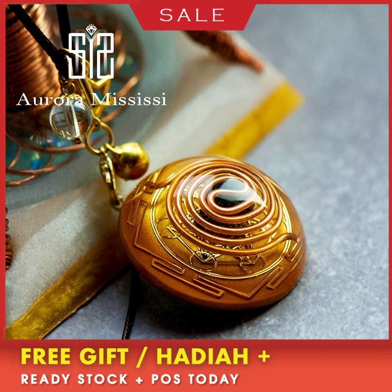 AURA Orgonite Pendant Energy Crystal Reiki Divination Pendant Chakra Healing MineralCrystal Glamour Jewelry For Women C0113