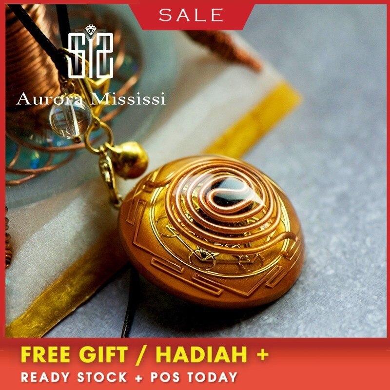 AURA Orgonite Pendant Energy Crystal Reiki Divination Pendant Chakra Healing MineralCrystal Glamour Jewelry For Women C0113