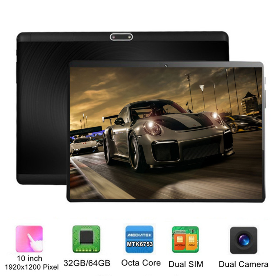 KUHENGAO Tempered Glass IPS 10 Inch Tablet PC 4G LTE With WIFI 32/64GB Android 7.0 GPS Camera 1920x1200