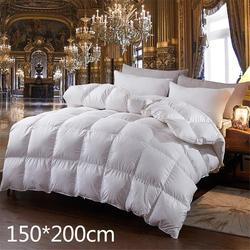 Neue Heiße Gans Unten Tröster Für Winter & Herbst Betteinsatz Decke Füllung Feder Unten Quilt Bettdecke König Königin Twin größe
