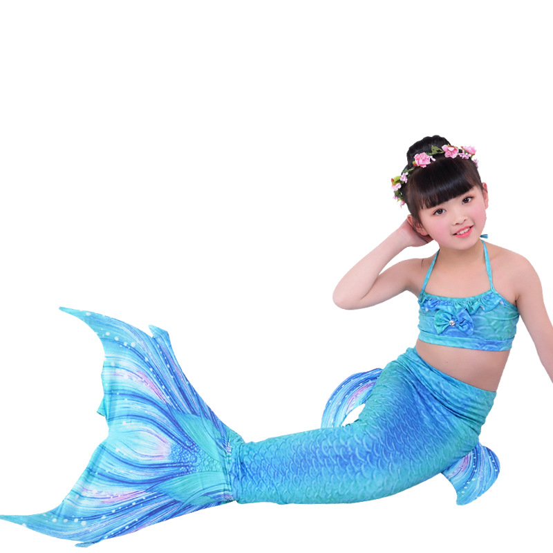 Kids Mermaid Tail For Swimming Sea Mermaid Tails Girls Costume Swimsuit Ariel the Little Mermaid Tails Bikini