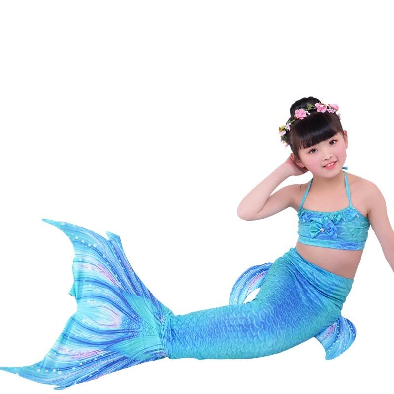 Kids Mermaid Tail For Swimming Sea Mermaid Tails Girls Costume Swimsuit Ariel The Little Mermaid Tails Bikini