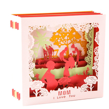 Mother's Day Greeting Card 3D Handmade Creative Small Card Birthday Pop Up Card Greeting Card Gifts For Mom цены