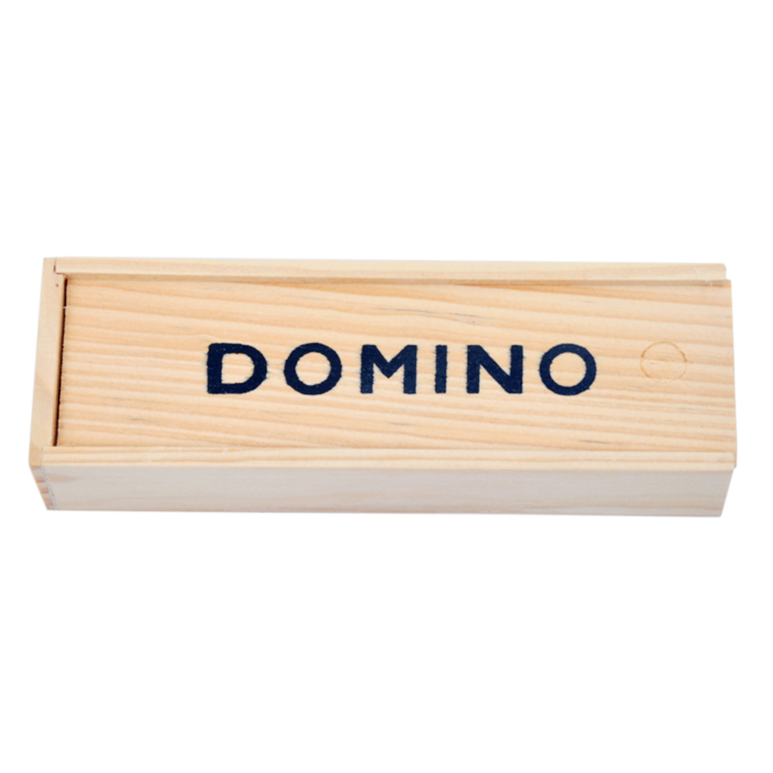 28Pcs Dominos Board Games Teaching Aids Educational Toys For Children With Wooden Box - Black