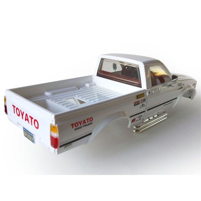 New HG P407A 1/10 2.4G 4WD Rc Car Kit for TOYATO Metal 4X4 Pickup Truck No Servo Battery ESC Transmitter DIY RC Kids Toys 6