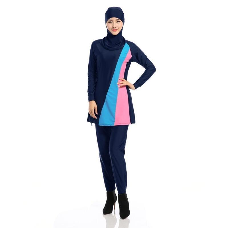 3pcs/set Muslim Women Girls Modest Islamic Arab Sets Full Cover Hoodie Pants Summer Beachwear Swimming Suit Burkinis Women Sets