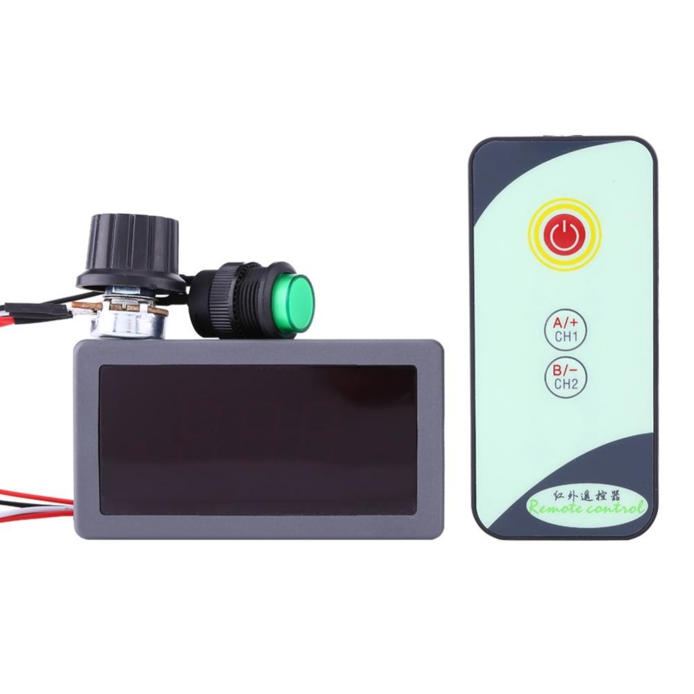 Durable DC 6V 12V 24V 5A/5A PWM Motor Speed Regulator Digital LED Display with IR Remote Controller Variable High Quality.Motor Controller   -