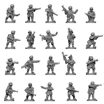 1 : 100 The Second World War Fow Soldier Model Battlefront Miniatures German Flames Of War