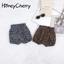 New Children's Shorts In Summer Of 2020 Korean Leopard-print Bakery Pants For Boys And Girls Baby Girl Shorts girls fish and star print shorts
