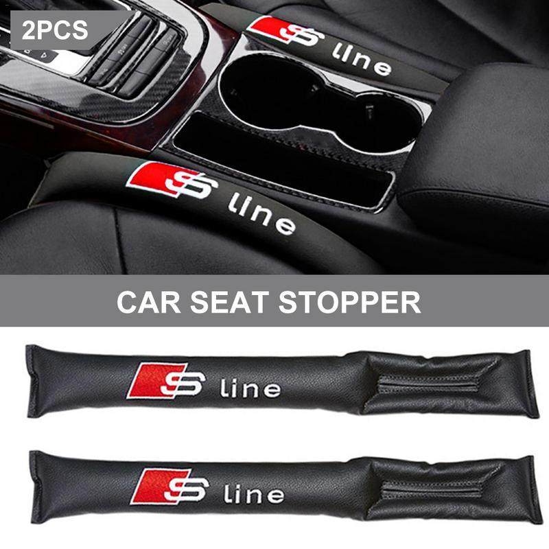 2pcs Vosda ST SLine Standard Car Seat Gap Plug Debris Traps Automotive Interior Products Carbon Fiber