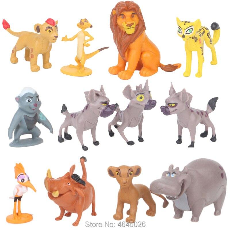 The Lion Guard King Kion Simba Miniature Action Figures Bunga Beshte Fuli Ono Figurines Cartoon Doll Kids Toys For Boys Children