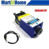 500 mw 405nm azul violeta laser módulo ttl pwm dc 12 v 3 p ajustável distância focal motorista embutido para cnc gravura corte