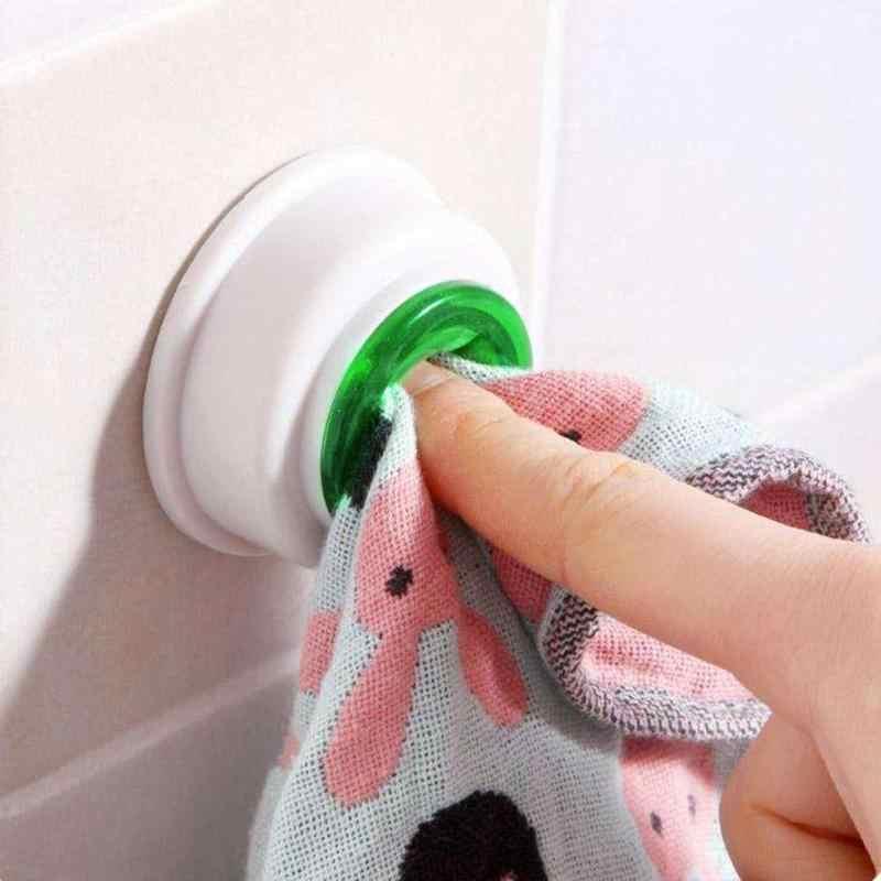 Samoprzylepne wieszak na ręcznik zacisk mocujący ściereczka do czyszczenia Dishclouth na ścianę w kuchni/łazience wieszaki haczyki uchwyty do przechowywania stojak kreatywny