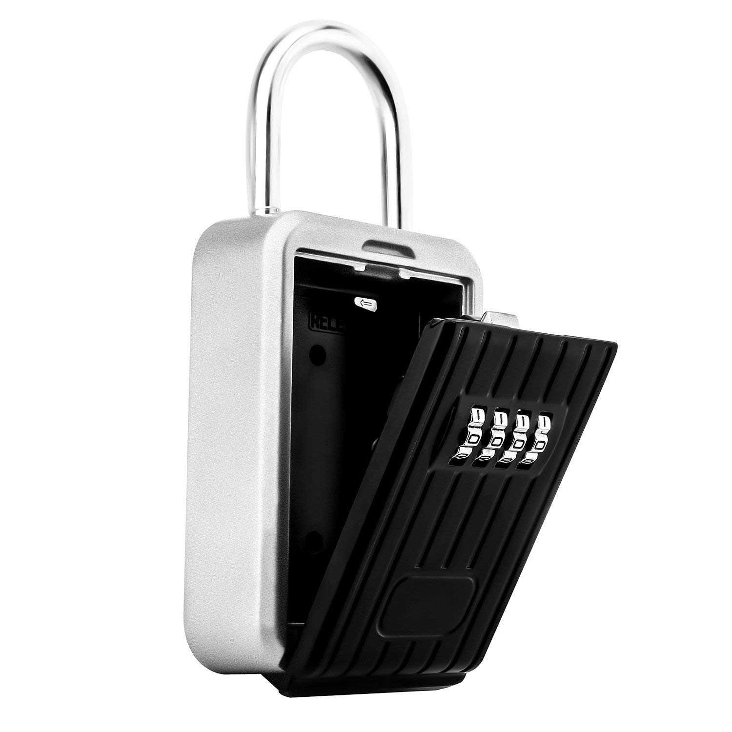 Portable Key Lock Box Secure Key Holder Durable Aluminium Alloy Material with 4 Digit Combination Waterproof Realtor Lock Box