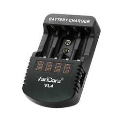Varicore Vl4 Multifunctional Charger 1.48 V-1.5 V Nickel-Metal Hydride Aa/ Aaa 9 V Charger Dc 12V 1A Ac 100-240 Battery Charge