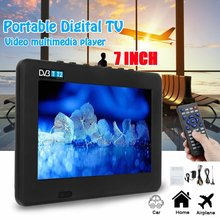 LEORY 7 Inch Tragbare HD TV 1080 P TFT LED DVB-T2 12 V Player MP4 MP3 Digital Fernsehen USB 2.0 AC /DC(China)